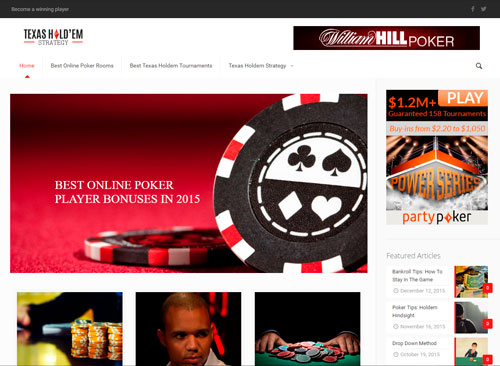 Texas Holdem Strategy by Facing Web