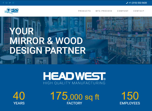 Manufacturing Website by Facing Web