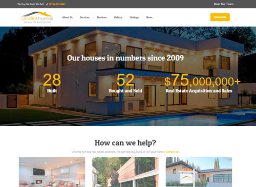 Real Estate Website by Facing Web