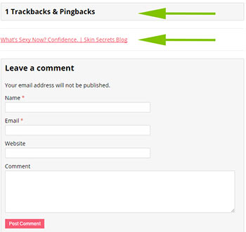 WordPress Trackbacks and Pingbacks Link Example